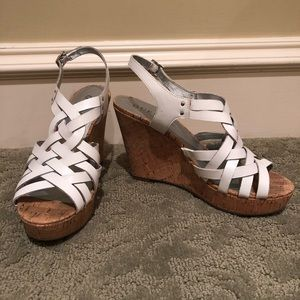 Guess strappy wedges